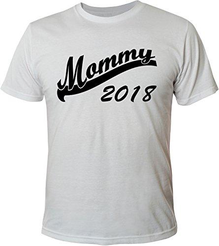 Mister Merchandise Herren Men T-Shirt Mommy 2018 Tee Shirt bedruckt Weiß