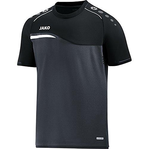 f3e3df41d50d94 JAKO Herren T-Shirt Competition 2.0, anthrazit/schwarz, L