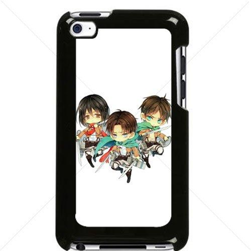 Shingeki no Kyojin Attack on Titan Manga Anime Comic Mikasa Ackerman Apple iPod Touch iTouch 4th Generation Hard Plastic Black or White cases (Black)