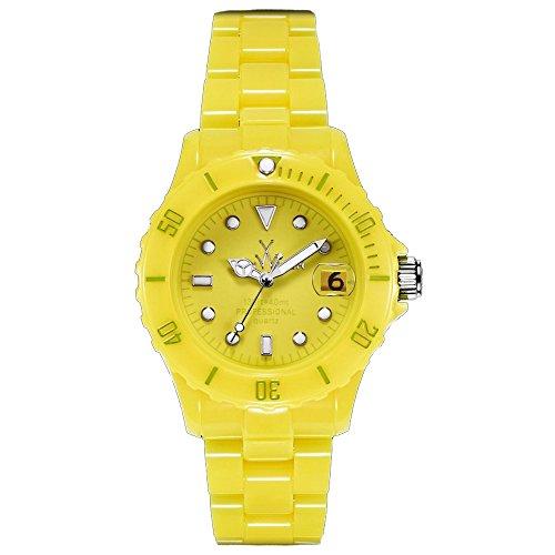 Orologio Toy Watch FLUO FL55LI Al quarzo (batteria) Policarbonato Quandrante Giallo Cinturino Policarbonato
