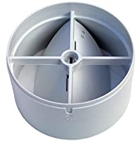 100mm in-line extractor fan vent back draught shutter