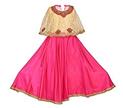 Arshia Fashions Girls Party Wear Gown with Poncho