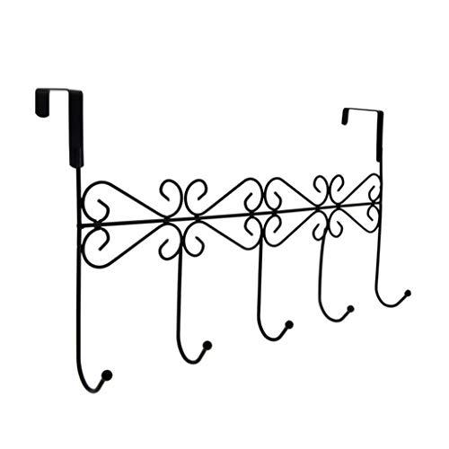 Xmansky Türhaken hinten,1 stücke Einfaches Retro Badetuch Haken über der Tür Dekorative 5 Haken Rack Kleidergürtel Kleiderbügel - Der Tür Storage über Der Küche