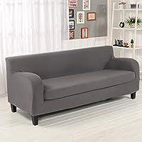 Ocamo Cubierta de sofá de Dos Piezas para Comedor, sofá con reposabrazos Gris, Cuatro Personas Longitud 190-230Cm