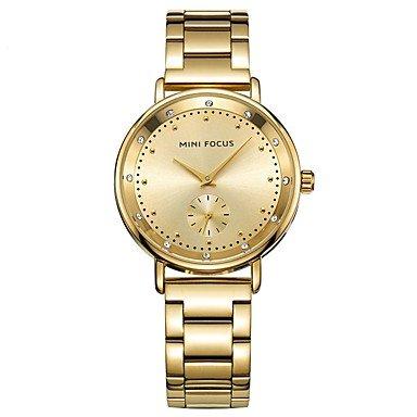 XKC-watches Herrenuhren, Damen Armbanduhren für den Alltag Japanisch Quartz Armbanduhren für den Alltag Edelstahl Band Freizeit Silber Grau Gold Rotgold (Farbe : Silber)