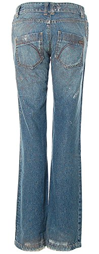 Killah Damen Jeans Hose Regular Slim Dirty Look Destroyed Blue