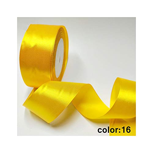 Hl 10.06/15/20/25/40 / 50mm 25 Yards Satin-Bänder Diy Kunstseide-Rosen Bastelbedarf Nähzubehör Material, Farbe 16,40mm -