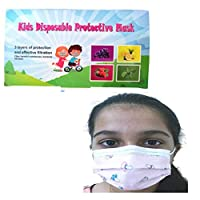 Zrom Face Mask 50PCS Kids Children's Mask Face Covering Industrial 3Ply Ear Loop Mask Mouth Mask Face Covering Protective