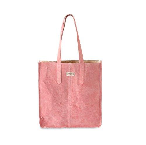 HYDESTYLE LB32, Borsa tote donna Multicolore Rosa rose gold