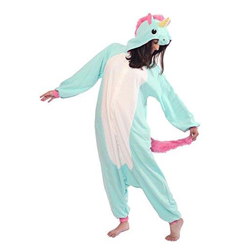Unisex Erwachsene Kinder Pyjamas Cosplay Nachtwäsche Tier Onesie Kostüme Schlafanzug Tieroutfit tierkostüme Jumpsuit (Erwachsene L Für Hohe 166-175CM, blaue - Kinder Lemur Kostüm