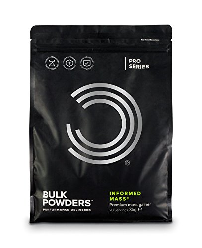 BULK POWDERS INFORMED MASS, Weight Gainer Protein Powder, Double Chocolate - 3 kg by BULK POWDERS