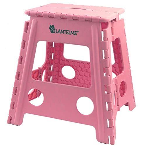Lantelme Klapphocker Kunststoff rosa Zuhause Garten Outdoor Camping Hocker faltbar tragbar platzsparend 7675