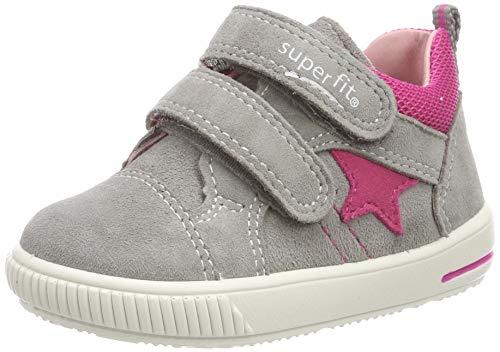 Superfit Baby Mädchen Moppy Sneaker, Grau (Hellgrau/Rosa 26), 25 EU Halbschuhe Hausschuhe