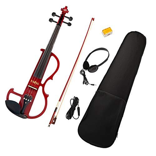 Homyl Orange Violine 4/4 Elektrische Violine Holz Silent Violine + Bow + Kabel + Case