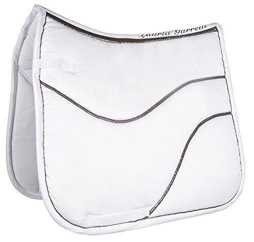 HKM Sports Equipment Lauria Garrelli Schabracke -Scotland LG- Limited, Weiß, Pony Dressur