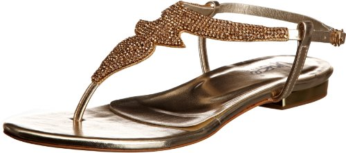 Unze Evening Sandals, Sandales femme Or (L18495W)