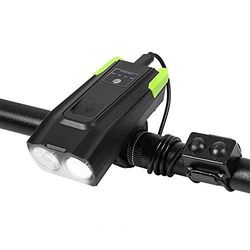 VANURX Fahrrad-Licht Und Built-In 120Db Glocke, USB Aufladbare 4000 Mah, Smart-Induktion-Modi, Fahrradbeleuchtung, LED-Fahrrad-Scheinwerfer-Lampe 800 Lumen