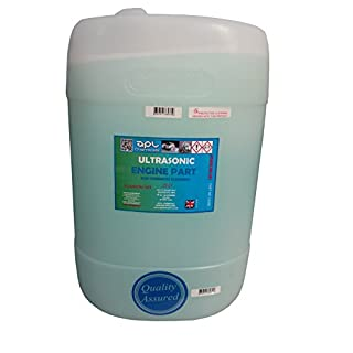Ultrasonic cleaning solution 25 LITRE for engine parts and carburettors removes grease and grime, for use in ultrasonic cleaning tanks, 25 litres