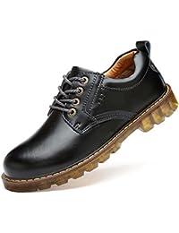 Bomba Dr.Martens Negocios Zapatos Casual Zapatos De Vestir Hombre Otoño Y Invierno Toe Ronda Cordón De Suela De Goma Antideslizante Estilo Británico Conducir Zapatos Tamaño Eu 38-45 ( Color : Black , Size : 44 )