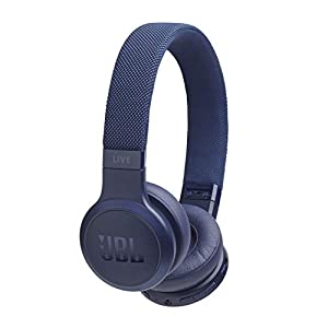 JBL Live 400BT wireless on-ear headphones - Bluetooth earphones with up to 24 hours runtime and Alexa integration - listen to music and make calls on the go Blue
