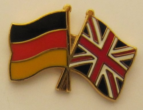 Großbritannien / Deutschland Freundschafts Pin Anstecker Flagge Fahne Nationalflagge Doppelpin Flaggenpin Badge Button Flaggen Clip Anstecknadel