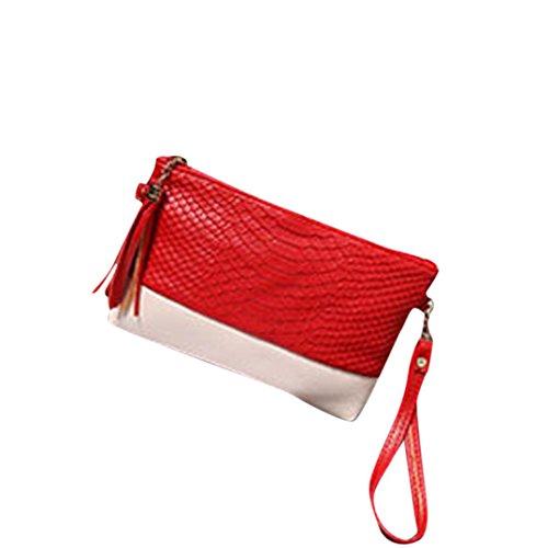 BZLine® Frauen Handtasche Schultertaschen Tote Handtasche Fashion Messenger bag (Pink) Rot