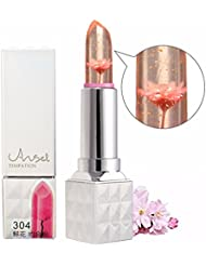 Jelly Lipstick LuckyFine Long Lasting Color Change Moisturize Gloss Flower Professional Make-up 8 flavour 304