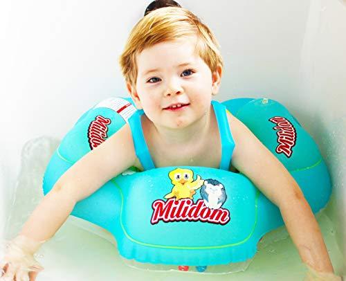 Milidom® Baby Schwimmtrainer I Mitwachsende Schwimmhilfe I Schwimmring, Schwimmsitz I Kinder ab 6 Monate bis 5 Jahre