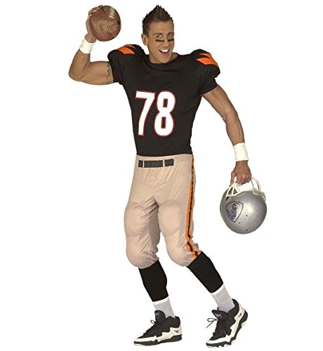 Widmann 44502 - Erwachsenenkostüm American Football Player, gepolstertes Oberteil und Hose, Gröߟe (Ball Halloween Kostüm Spieler)