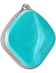 Mini Collar GPS Tracker Mini A9SOS Llamada Remote Voice Monitor GSM Lbs Tiempo real de seguimiento para niños Old Man–Green