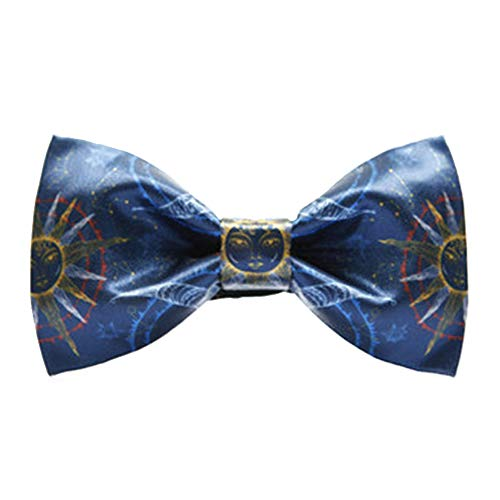 ZSRHH-Neckchiefs Halstücher Herren Krawatte Classic Tuxedo Sun Moon Print Bow Tie einstellbar -