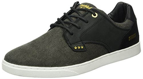 Pantofola d'Oro Herren Prato Canvas Low Men Top Schwarz (Black)