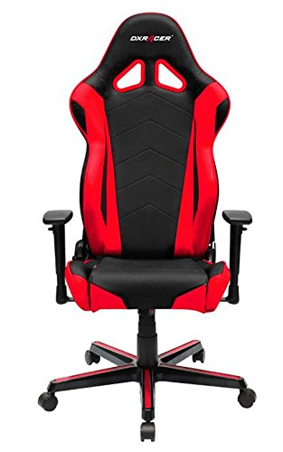 DX Racer OH/RZ0/NR – Asiento de Gaming Negro/Rojo