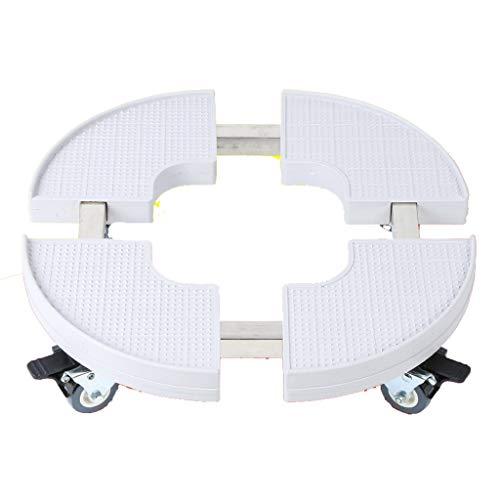 NYDZ Runde Klimaanlage Schrank Basis With4 Locking Wheels Waschmaschine Halterung erhöhte Rack zylindrische Blumentopf Aquarium Bracket Caddy -