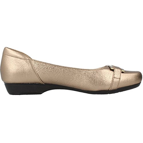Ballerines, couleur Or , marque CLARKS, modèle Ballerines CLARKS BLANCHE WEST Or Or