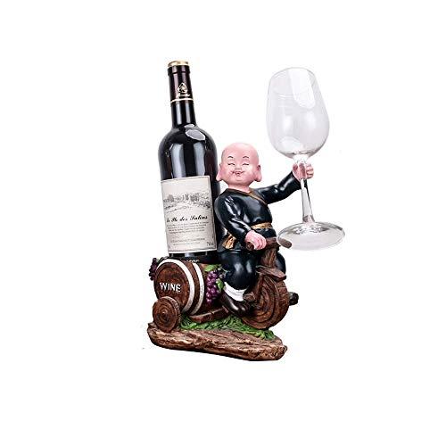 Vinteen Europäischen Stil Rotwein Regal Put Stück Weinglas Halter Haushalt Kreative Wein Tablett Wohnzimmer Trauben Weinregal Weinkühler Show Bracket (Color : Black)