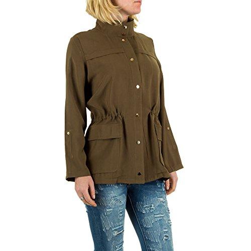 Leichte Military Jacke Für Damen bei Ital-Design Khaki