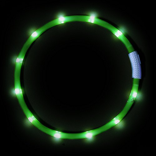 VIZPET-LED-Dog-Collar-USB-Rechargeable-Glowing-Pet-Dog-Collar-Reflective-LED-Dog-Safety-Collar-Silicone-Adjustable-Glowing-Safety-Water-Resistant-Collar-with-Flashing-Light-for-Small-Medium-and-Large-