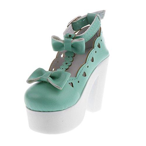 Sharplace Puppen Sommer Schuhe High Heel Sandalen mit Bowknow Für 1/3 Puppen Kleidung Zubehör - Grün 18-zoll-puppe High Heel-schuhe