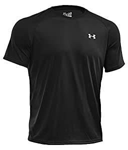 Under Armour Tech Men's Short-Sleeve Shirt, Black/White (001), X-Large