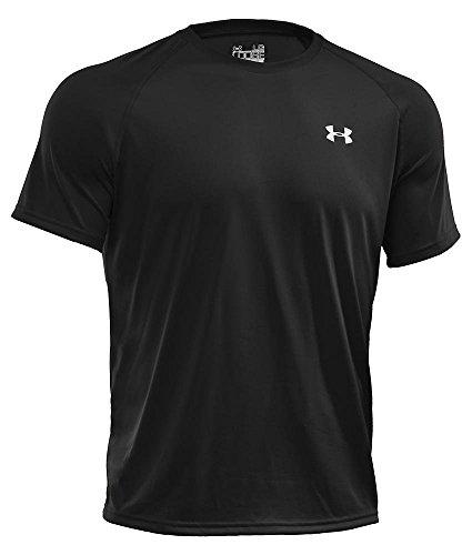 Under Armour Herren UA Tech Ss Fitness T-Shirt, Schwarz, XL