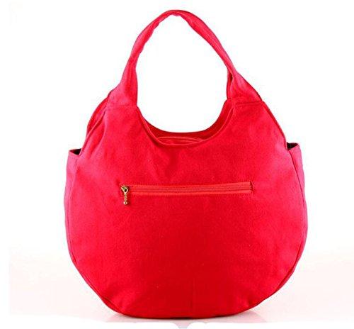 Bag Vento Ricamato Ricamo Signore Nazionali Borsa Tracolla Retrò Red