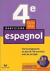 Chouette Entraînement : Espagnol, de la 4e à la 3e - 13-14 ans (+ corrigés)
