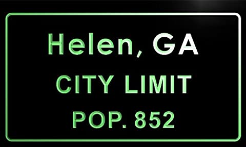 t80429-g Helen city, GA City Limit Pop 852 Indoor Neon sign