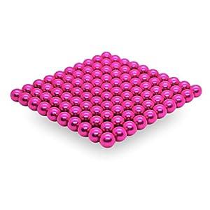 movmagx Magnetkugeln 5mm [ 100 Stück – Pink ] inkl. Samtbeutel & Trennkarte – Magnete für Pinnwand, Magnettafel…