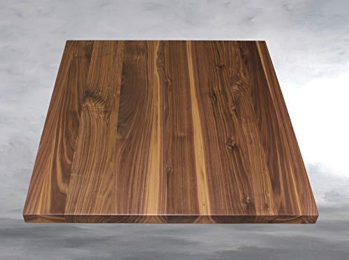 FidgetGear Tischplatte Platte Leimholz Nussbaum Amerikanisch Massiv Holz Geölt Show One Size -