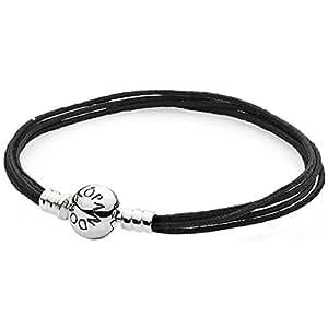 "Pandora ""Textilarmband schwarz"" - L.: 20,5 cm - 590715CBK-M3"