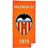 Valencia CF Toavcf Toalla, Blanco/Naranja, Talla Única