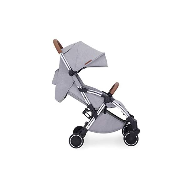 Ickle Bubba Baby Strollers | Lightweight and Portable Stroller Pushchair | Folds Slim for Ultra Compact Storage | UPF 50+ Extendable Hood and Rain Cover | Globe, Grey/Silver Ickle Bubba ONE-HANDED 3 POSITION SEAT RECLINE: Baby stroller suitable from birth to 15kg-approx. 3 years old; features rain cover UPF 50+ RATED ADJUSTABLE HOOD: Includes a peekaboo window to keep an eye on the little one; extendable hood-UPF rated-to protect against the sun's harmful rays and inclement weather ULTRA COMPACT AND LIGHTWEIGHT: Easy to transport, aluminum frame is lightweight and portable-weighs only 6.4kg; folds compact for storage in small places-fits in aeroplane overhead; carry strap and leather shoulder pad included 9
