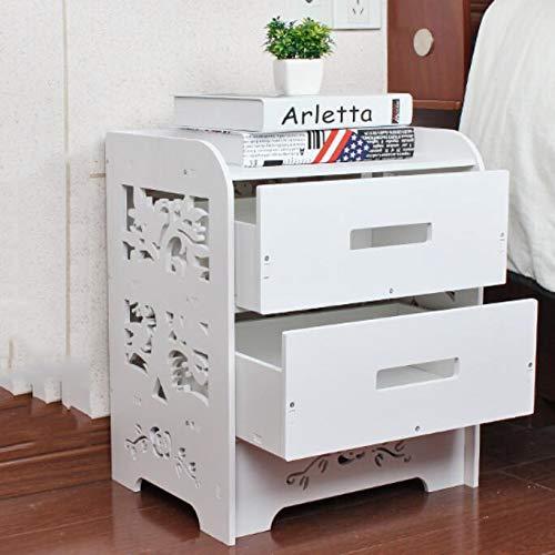 cj-CJ Kaffeetisch,Beistelltisch 2 Regal Am krankenbett Stand Nachttisch Stand Couchtisch mit schublade-A 36.5x30x46cm(14x12x18inch) -